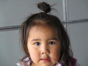 An Inuit girl.