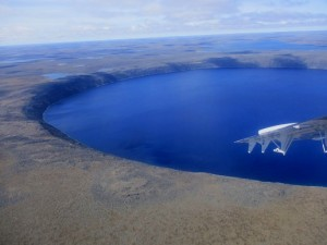Crater Lake seen from the plane.