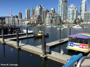 Taking the Aquabus from Granville Island.