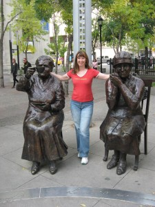 """Two of the """"Famous Five"""" (Photo Bernadette Calonego)"""