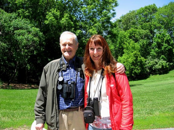 Gerald Chapple is also a passionate birder, that is why we are both equipped with binoculars!