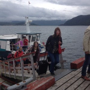 My arrival in Woody Point by water taxi.