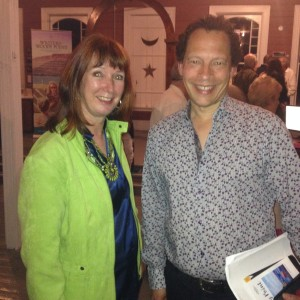 With author Lawrence Hill.