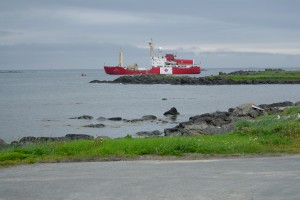 The icebreaker in L`Anse aux Meadows.